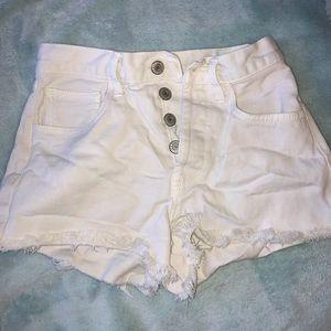 White brandy Melville shorts